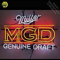 Neon Zeichen für Miller MGD Echtem Entwurf Neon Birne zeichen Business Display Handmade Glas rohr neon licht personalisierte neon bar zeichen|Neonröhren & Röhren|   -