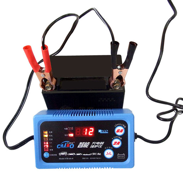 6V12V Car Motorcycle LCD Display Battery Charger/ Maintain 2A 6A Lead Acid Battery Charger For SLA,AGM,GEL,VRLA, Battery Charger
