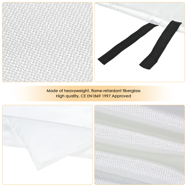 1M x 1M Sealed Fire Blanket Home Safety Fighting Fire Extinguishers Tent Boat Emergency Survival Fire Shelter Safety Cover Computer, Office & Security