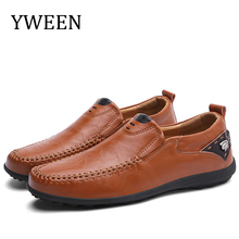 YWEEN Fashion Men Shoes Big Size Spring  Style Soft Moccasins Loafers High Quality Leather Flats Driving