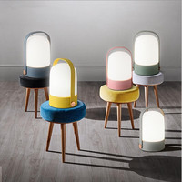 Nordic Mini Touch switch white glass table lamp bedroom bedside study E27 led dimmable switch small desk lamps glass night light