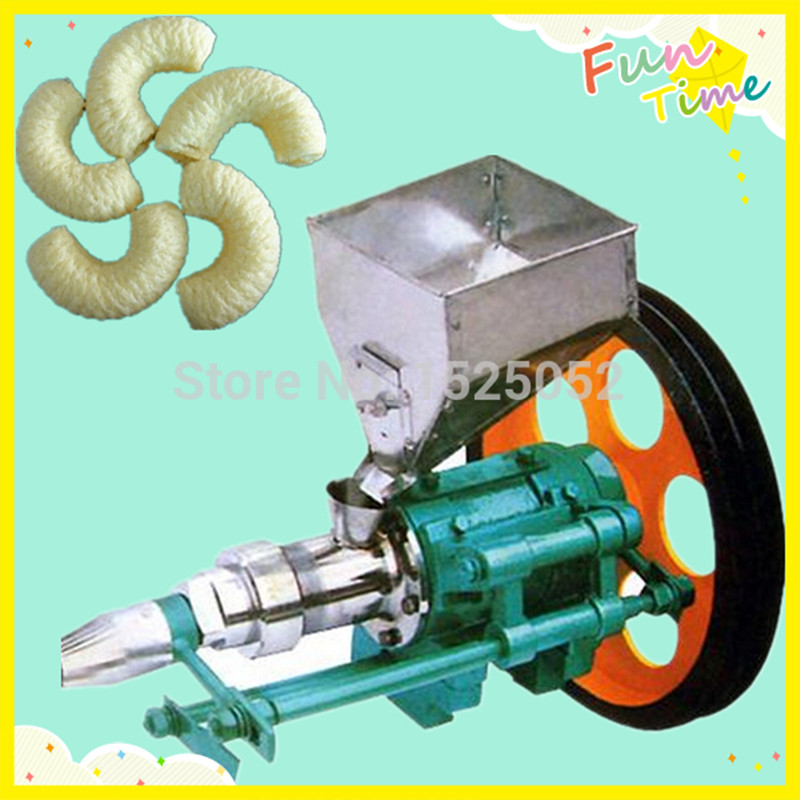 Corn and Rice Puffed Food Extruder with 7 Shapes Corn Puffed Machine large production of snack foods puffing machine grain extruder single screw food extruder