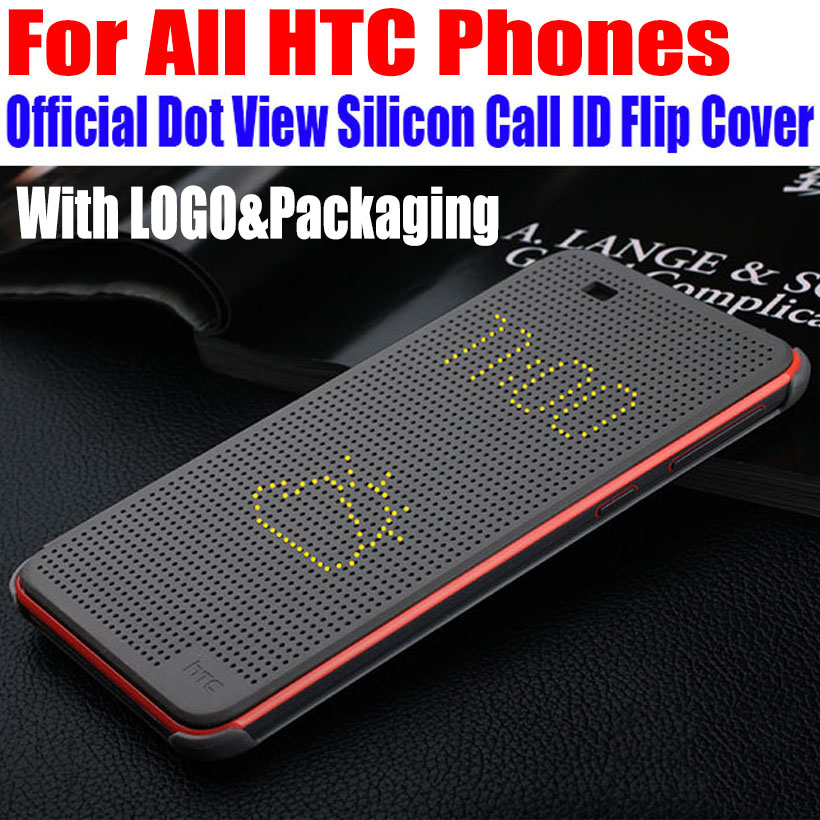Smart Dot View TPU-telefonfodral Fodral för HTC One M9 E8 E9 PLUS A9 X9 EYE ME 626 626G 820 826 620 820Mini Butterfly 2 3 HA1