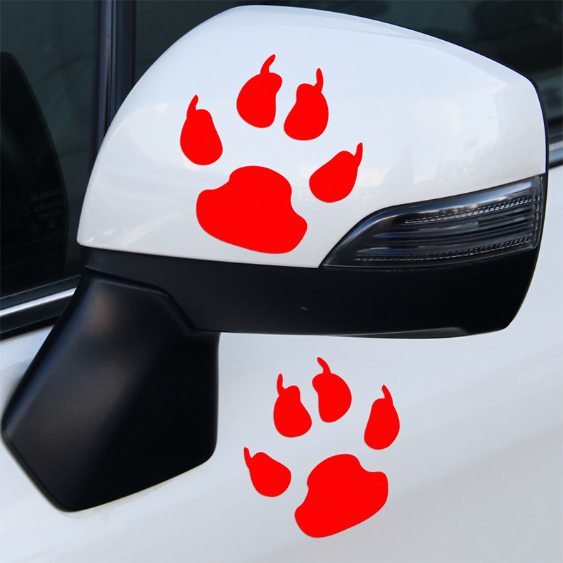 3 Pairs Bear Footprint Stickers Decal Car Styling For vw Nissan JUKE audi ford bmw e46 Benz opel car accessories