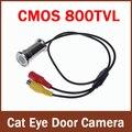 100% Brand New Wired CCTV 1/4 CMOS 800tvl 3.6mm (2.8mm) Gato Cor de Segurança Olho Buraco Porta câmera
