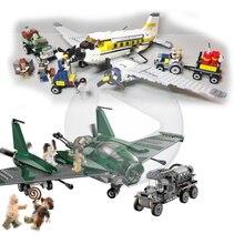 Lepin 31002 401pcs aircraft military Indiana Jones Kingdom of the Crystal Skull Building Blocks Bricks Toys 7683 for children