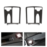 Car Real Carbon Fiber Central Control Water Cup Panel Cover Sticker For Mercedes Benz C Class W204 C200 C300 C180L E Class W212