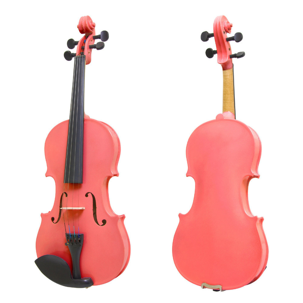 ONE 4 string 4/4 Violin Electric Violin Acoustic Violin Maple wood Spruce wood Big jack  pink color one red 4 string 4 4 violin electric violin acoustic violin maple wood spruce wood big jack color