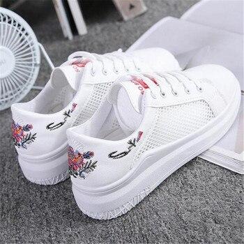 Sepatu Wanita 2018 Musim Semi Musim Panas Baru Superstar Sneaker Wanita Harajuku Liar Putih Sepatu Jaring Dapat Bersirkulasi Sepatu Kasual