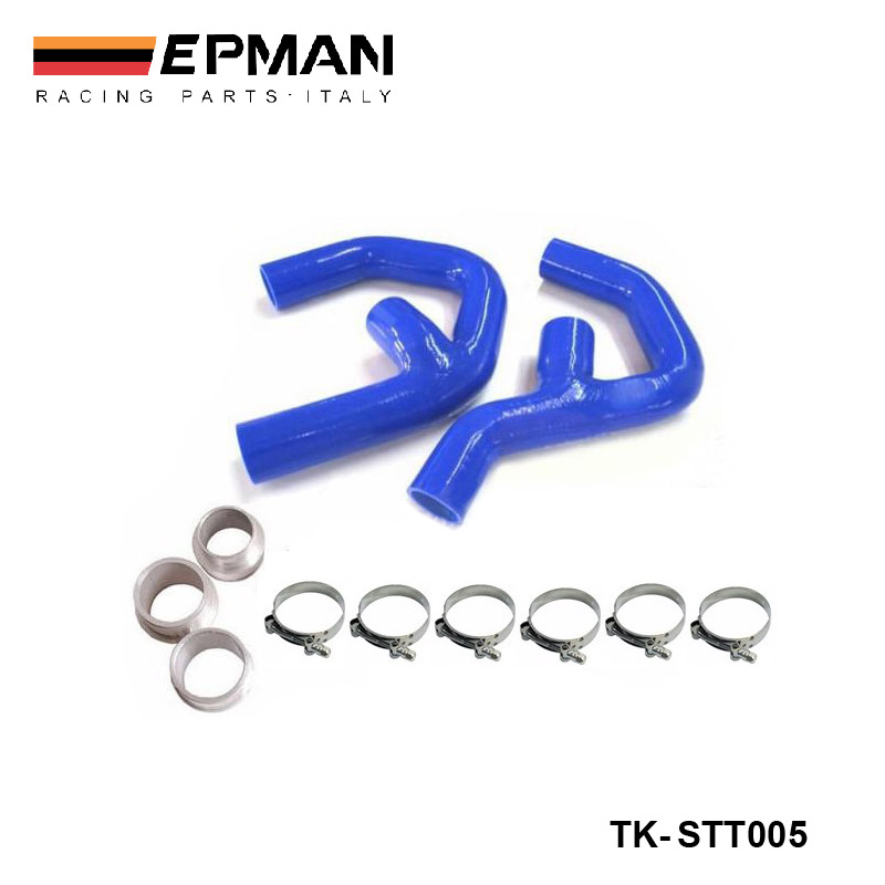 Silicone Intercooler Turbo Boost Hose Kit For Seat Leon Altea 2.0 litre FSiT (2pcs) EP-STT005 epman intercooler y pipe hose kit for subaru wrx sti gdb ggb 2 0 00 07 ver 7 9 3pcs ep sbt007