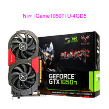 Video Card for Colorful IGame1050Ti 4Gb NVIDIA Chips Flames Ares Graphics U 4G D5 Game GTX 1050 Ti Direct X12 Transcend GTX960