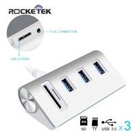 Rocketek USB HUB High Speed Aluminum 3 Port Uab Usb 3 0 Hubs Power Interfac With