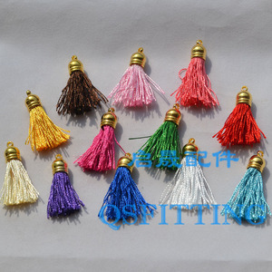 20pcs/lot DIY Jewelry accessories,Car Decoration,4CM Gold plating Tassels,Chinese Knot Pendant,Mix Color