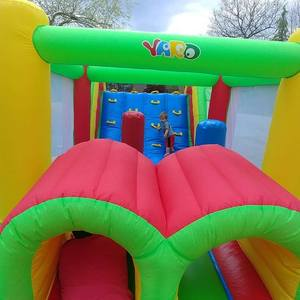 Image 5 - Inflatable Bounce House Obstacle Course Double Slides 6.4x2.8x2.5m Inflatable Trampoline Funny Bouncy Castle Christmas Gift