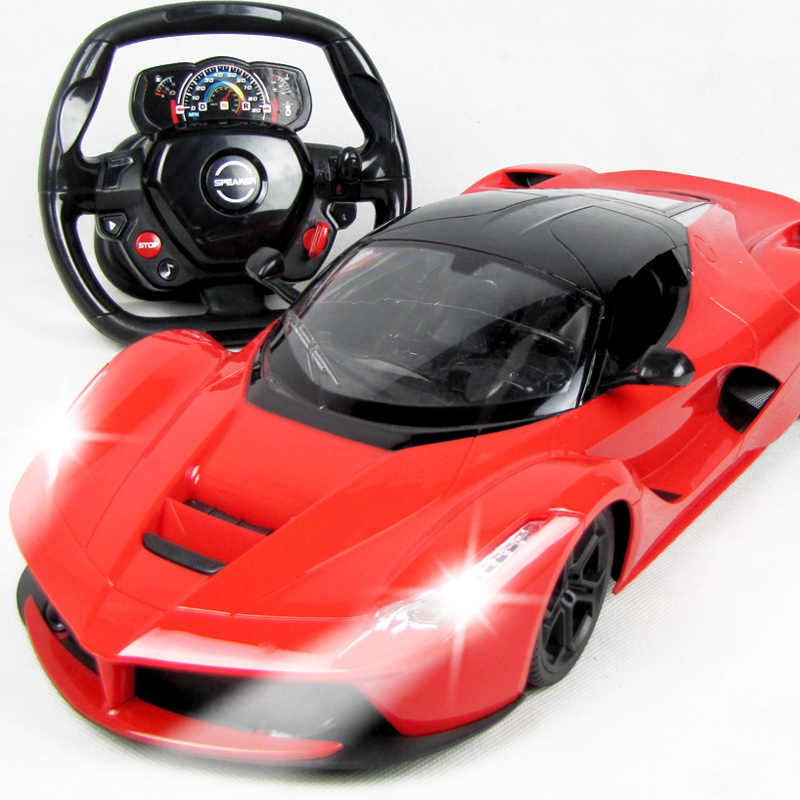 Flytec 1:14 Electric RC Cars Steering wheel Remote Control Radio Control Cars Toys For Boys Children Kids Gifts Flash Lights