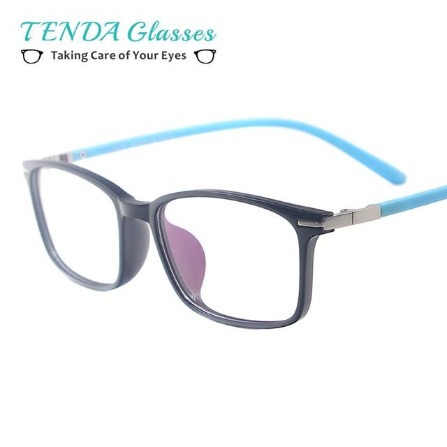 2e4fb7d94 Mulheres Colorido Retangular Quadro Espetáculo Homens TR90 Leve Pequeno Óculos  Para Lentes de Prescrição Multifocais