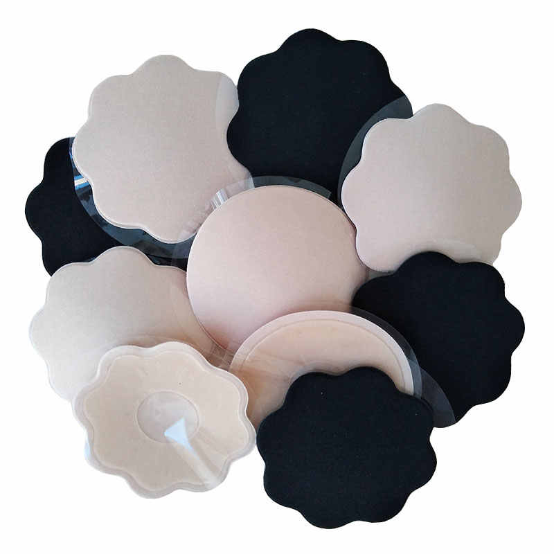 1 Pair Bra Pad Reusable Self Adhesive Silicone Bra Breast Pad Pasties Petal Chest Stickers Nipple Cover Invisible Intimates