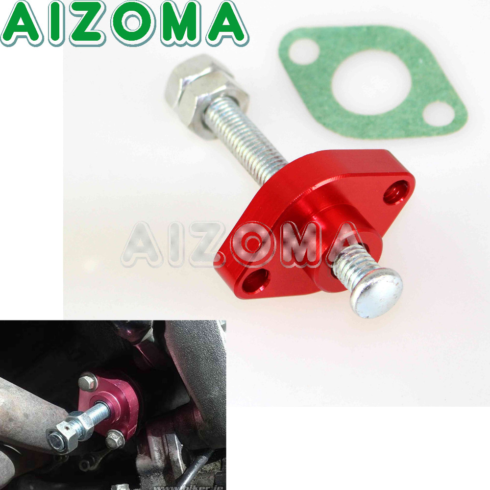 Red Manual Cam Timing Chain Tensioner For Yamaha Offroad TTR XT YZ WR 225  250 350 426 ATV YFZ YFM YXR 200 450 Raptor Grizzly -in Covers & Ornamental  ...