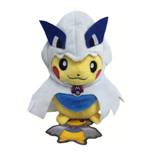 2017 Free Shipping  1Pcs/lot 8inch 20cm Pikachu Cosplay Plush Toy Smile Pikachu Cosplay Lugia Plush Stuffed Toys Doll With Tag