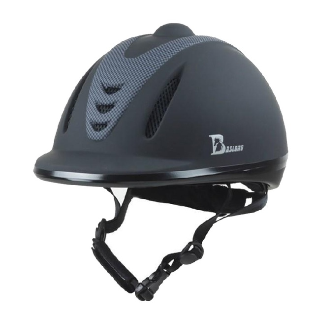 Professional Equestrian Horse Riding Helmet Black ABS Unisex Half Cover Safety Cap Horse Riding Equipment