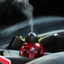 New Ladybug Ultrasonic Car Humidifier USB Car Humidifier Mini Aroma Essential Oil Diffuser Aromatherapy Mist Maker Home Office