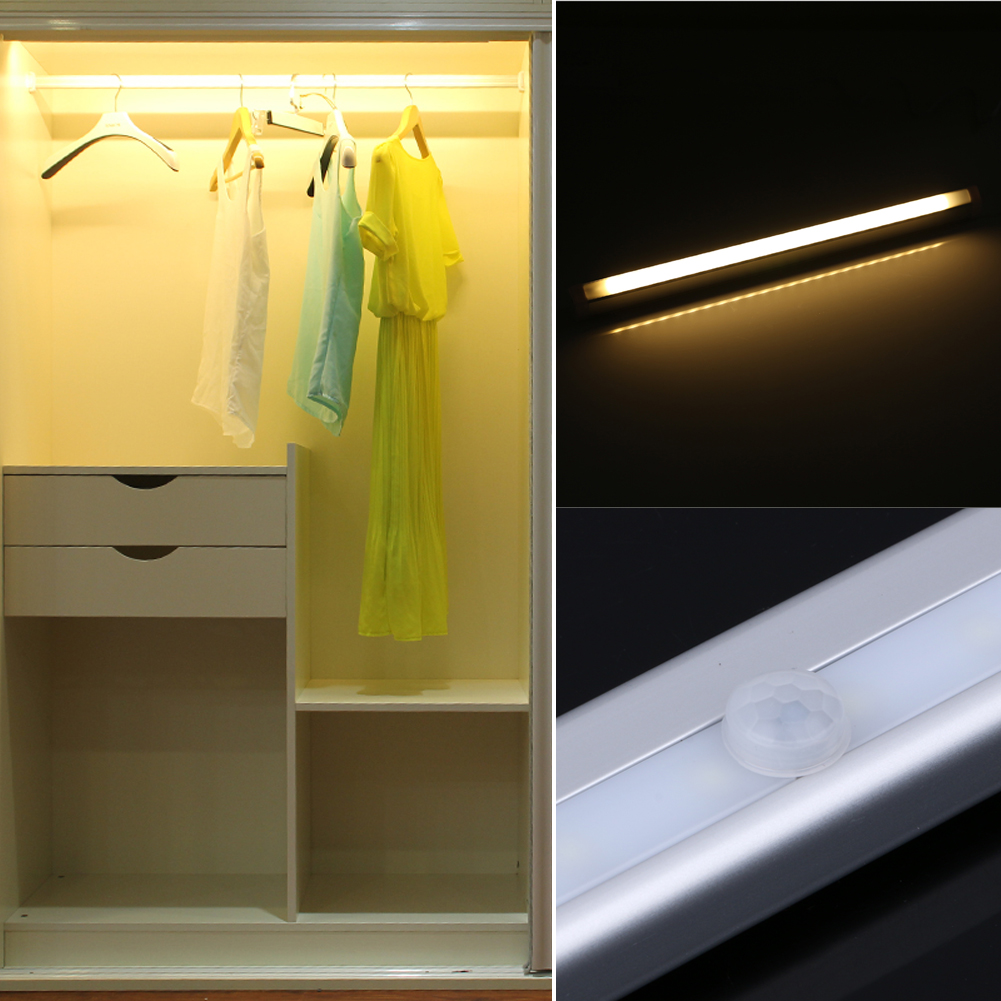 USB Rechargeable 20 LEDs Cabinet Light PIR Auto Motion Sensor Lamp Induction Lamp Night Lights for Cabinet Wardrobe Hotel Closet 10 led wireless pir auto motion sensor light intelligent portable infrared induction lamp night lights for cabinet hotel closet