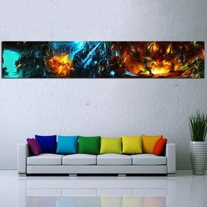 Image 1 - 1 шт. игра Художественная печать Wow World of Warcraft плакат HD Настенная картина Warcraft холст картины искусство для домашнего декора настенное искусство