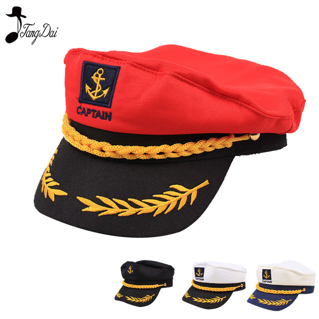 07184256acc89 Adult Captain Costume Boat Yacht Ship Sailor Navy Captain Hat Party Cosplay  Cap Sea Boating Nautical Hat