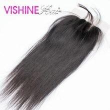 Free Shipping Lace Closure 4X4 Peruvian Virgin Hair Straight Top Lace Closure 8–20 inch Ms Lula Hair Hot Sale Item