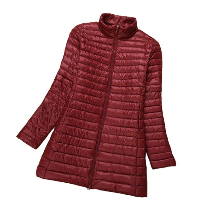 Plus size Women   down     Coat   2018 New White Duck   Down   Long Jacket Female Ultra Light Slim Solid Jackets Winter slim   Coats   QH1253