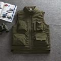 Mens Multifunctional Quick-Dry Mesh Fishing Vest Jacket Loose Multi-Pocket Outdoor Photography Angler Waistcoa chaleco de pesca