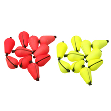 12 Pieces 20x10mm Yellow Red Color Foam Float Fly Fishing Strike Indicator Drop-shaped