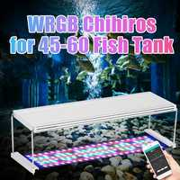 45CM WRGB 76W 153 LED Aquarium Fish Tank Light Plant Lamp Waterproof Clip for 45 60CM Aquariums Lighting