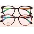 Luz De Plástico Fino de Tungstênio de Aço Unisex Mulheres Homens Geek Eyewear Óptico Óculos De Armação Redonda pode Preencher Miopia Presbiopia Lente