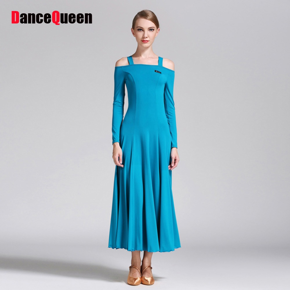 Show details for 2017 New Ballroom Dance Dress For Women Strapless Long Sleeve Waltz/Tango-Dancing Standard Ballroom Dance Dresses For Sale