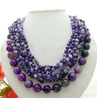 Wonderful! 8Strds Purple Onyx Necklace