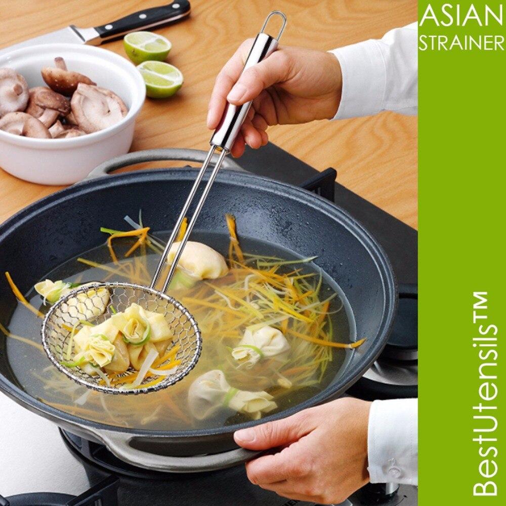 Asian Ragno In Acciaio Inox Colino Filo Da Cucina Skimmer con ...