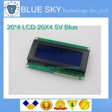 Free Shiping 10pcs/lot LCD Board 2004 20*4 LCD 20X4 5V Blue screen LCD2004 display LCD module LCD 2004 for arduino