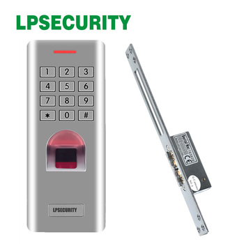 Outdoor Metal fingerprint keypad access control with fail secure NO NC Electric Strike Door Lock For Access Control System high quality nc electric strike door lock for access control system 12v fail safe type power to close electric door lock 150ka