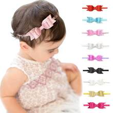 1 Piece Headwrap Baby Headbands Headwear Girls Hair Hairband Shiny Bow Tie Head Band Infant Newborn(China)