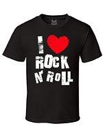 Gs-I Love Rock N Rocha Gráfico T-Shirt dos homens águia Harajuku Masculino Top Roupas de Fitness Da Marca Curto-mangas compridas Camiseta Letras de Impressão