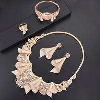 Роскошные индийские Свадебные украшения наборы кубический цирконий Дубай ювелирные наборы для женщин Цепочки и ожерелья серьги ювелирные