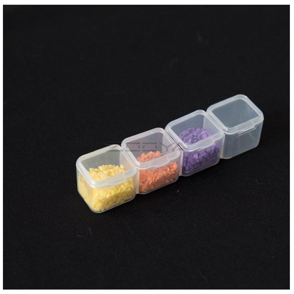 ZOOYA инструменты для вышивки картин со стразами аксессуар контейнер для бисера Алмазная вышивка для хранения камней коробка для ювелирных изделий Мозаика удобство T007