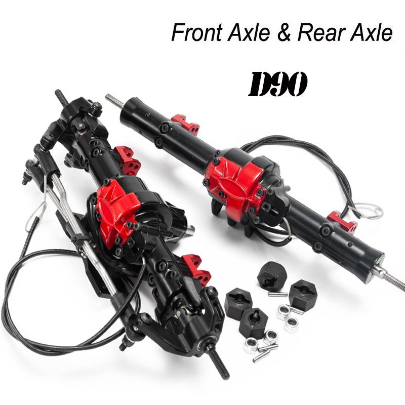 AXIAL SCX10 D90-Front And Rear Axle (with lock) Metal Front And Rear Axle Assembly Set Cimbing Car Axle For 1/10 RC Crawler
