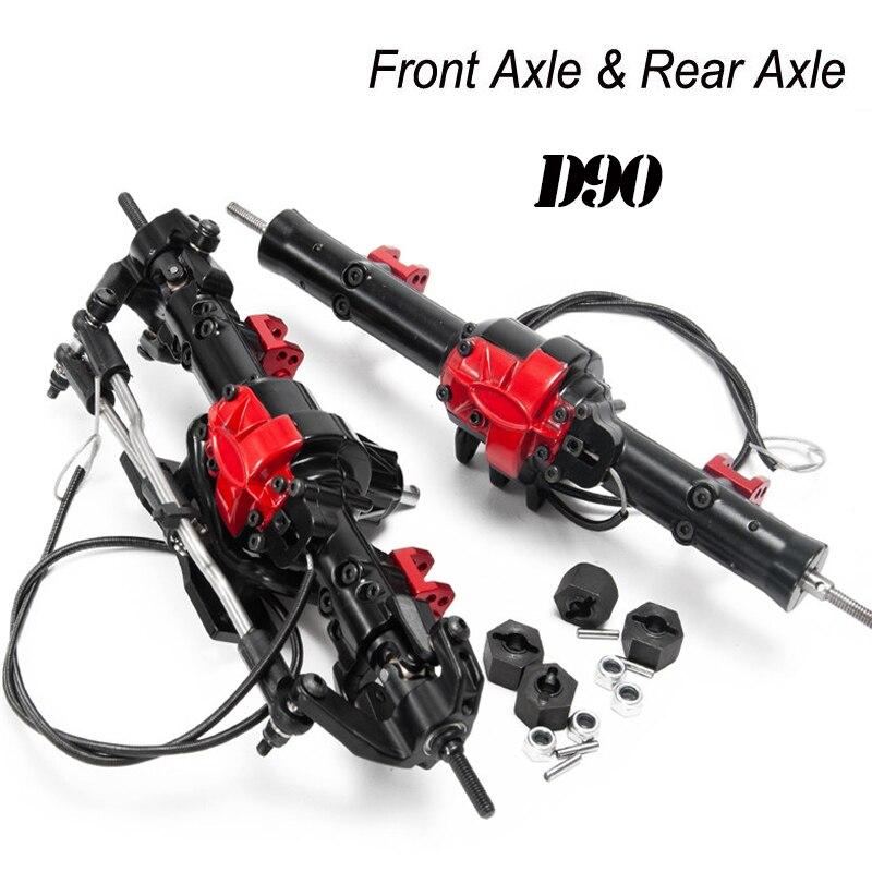 Essieu AXIAL SCX10 D90-Front et arrière (avec serrure) ensemble d'essieu avant et arrière en métal essieu de voiture Cimbing pour chenille RC 1/10