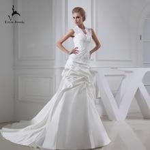 Eren Jossie White Ivory Court Train Outdoor Sleeveless Gown