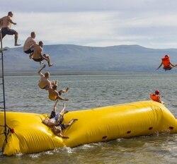 Spedizione Gratuita! Pompa libero! 9x2 m di Acqua Gioco Gonfiabile Gonfiabile Blob Acqua, Aqua Blob Salto, Catapulta Acqua Per La Vendita