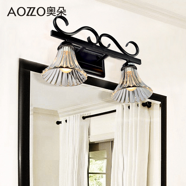 Ao duoou style wrought iron bathroom mirror front lamps bathroom ao duoou style wrought iron bathroom mirror front lamps bathroom wall lamp simple bedroom dressing table mozeypictures Images