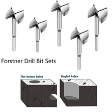 Forstner Bit Carbon High Speed Steel Woodworking Hole Saw Set Auger Opener Drilling Wood Plastic Plywood with Round Shank-1