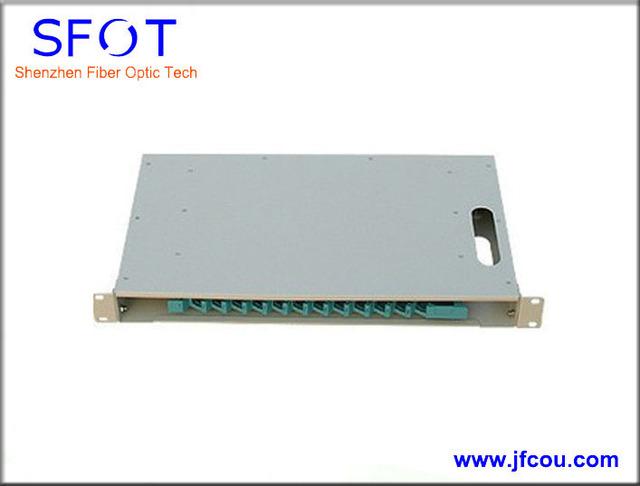 12 core ODF de fibra óptica marco de distribución caja de distribución ( sin adaptador y coletas )